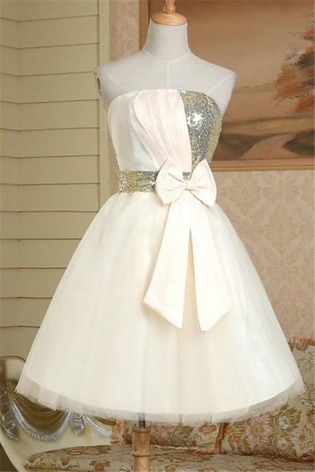 White Homecoming Dress,Sparkle Homecoming Dresses,Homecoming Gowns,Fashion Prom Gowns,Sweet 16 Dress
