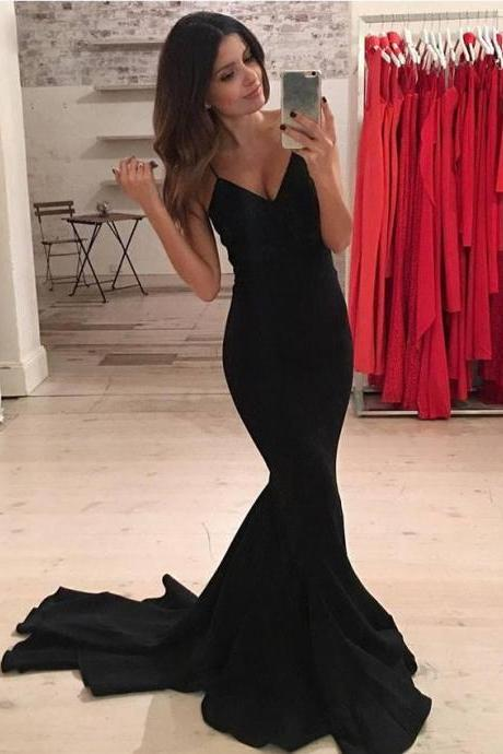 Prom Dresses, Formal Prom Dress,Sexy Black Prom Dress, Mermaid Prom Dress