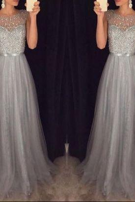 Shinny prom dresses, gray tulle prom dresses, gorgeous prom dresses, 2018 prom dresses, juniors prom dresses