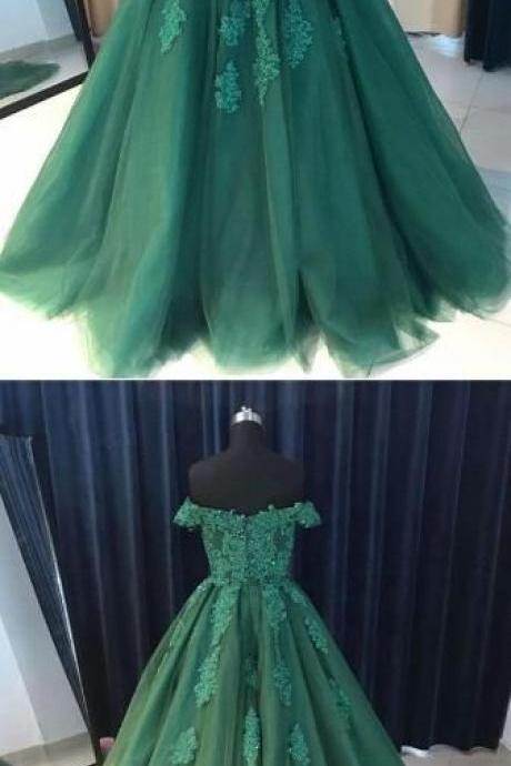 Lace Prom Dress, Long Party Dress, Sexy Evening Dress, New Arrival Green Prom Dress 52009