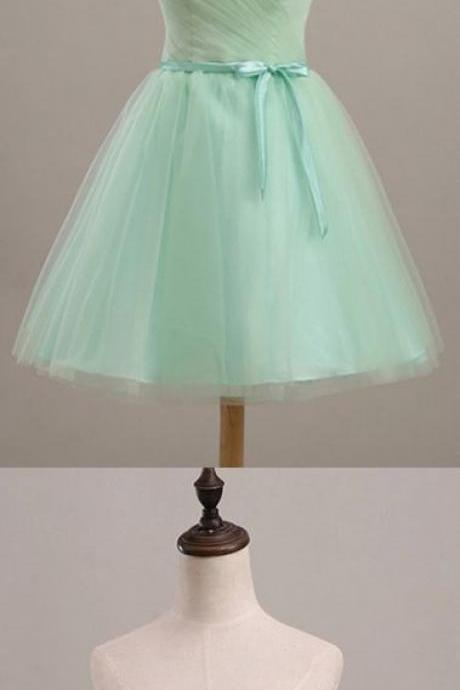 short homecoming dress, tulle homecoming dress, mint green/lavender homecoming dress, sweetheart homecoming dress 589