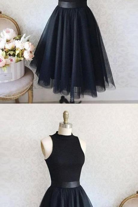 Sleeveless Homecoming Dress, Simple Homecoming Dress, A-Line Homecoming Dress, Homecoming Dress Black