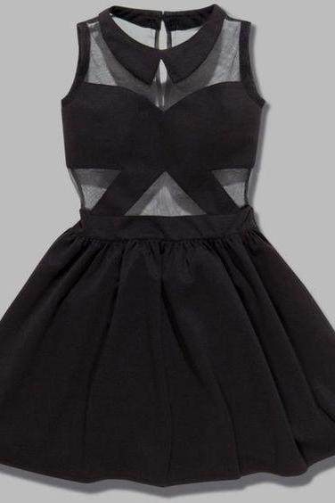 Black Prom Dress,Halter Prom Dress,Fashion Homecoming Dress