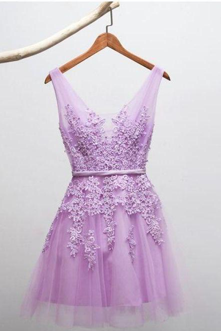 Charming Prom Dress, Short Tulle Homecoming Dress