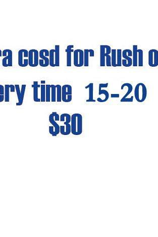 Extra Cost Of Rush Order Delivery time is within 15 days.
