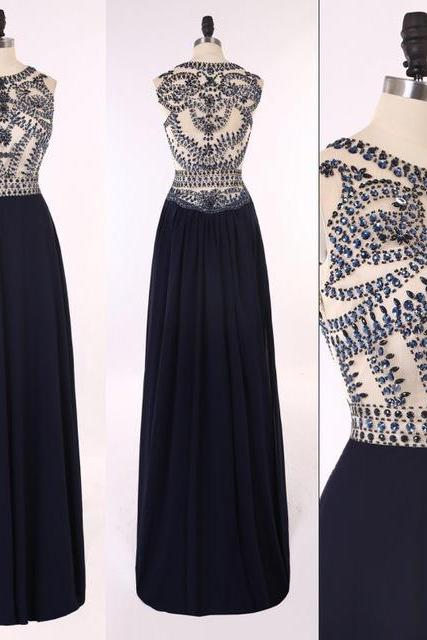 Beaded Prom Dress,Bodice Prom Dress,Maxi Prom Dress,Fashion Prom Dress,Sexy Party Dress, 2017 New Evening Dress