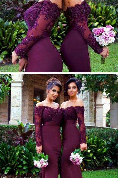 Mermaid Prom Dress,Off The Shoulder Prom Dress,Lace Prom Dress,Fashion Bridesmaid Dress,Sexy Party Dress, New Style Evening Dress