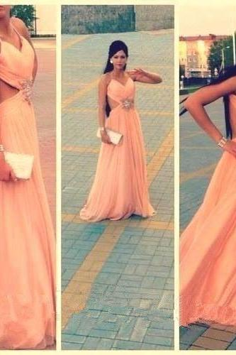 Halter Prom Dress,Backless Prom Dress,A Line Prom Dress,Fashion Prom Dress,Sexy Party Dress, 2017 New Evening Dress