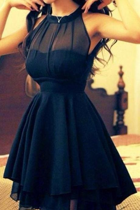 Halter Prom Dress,Bodice Prom Dress,Mini Prom Dress,Fashion Prom Dress,Sexy Party Dress, 2017 New Evening Dress