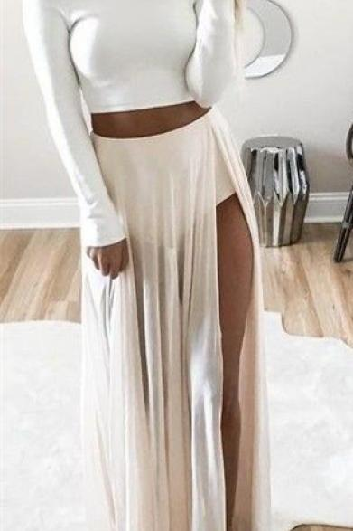 Off The Shoulder Prom Dress,Bodycon Prom Dress,Split Prom Dress,Fashion Prom Dress,Sexy Party Dress, 2017 New Evening Dress