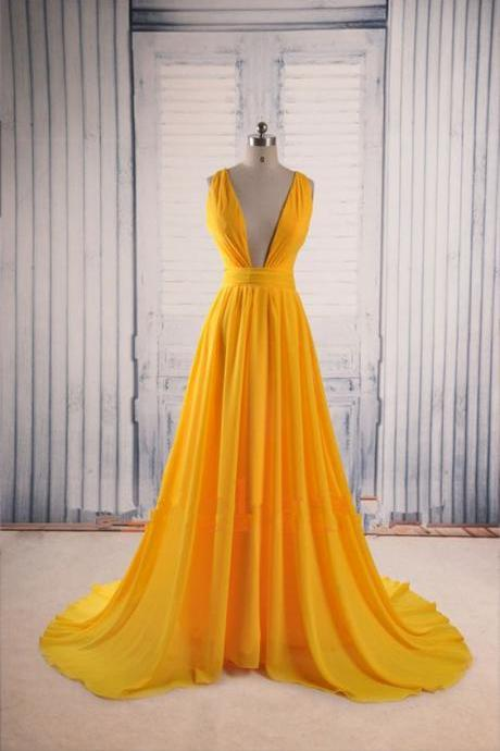 Deep V Prom Dress,A Line Prom Dress,Maxi Prom Dress,Fashion Prom Dress,Sexy Party Dress, 2017 New Evening DressR