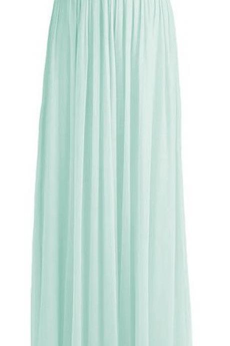 Floor Length Chiffon Pleated Evening Dress Featuring Strapless Ruched Bodice for Homecoming, Prom, Wedding