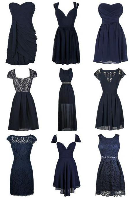 Navy Blue Prom Dress,Lace Prom Dress,Bodycon Prom Dress,Fashion Prom Dress,Sexy Party Dress, New Style Evening Dress
