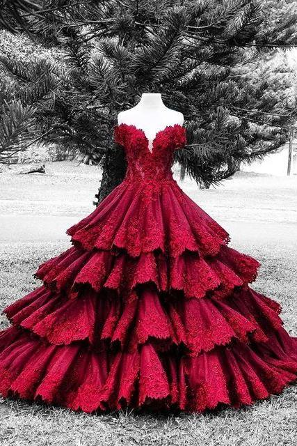 Gorgeous Quinceanera Dress,Off The Shoulder Ball Gown,Applique Prom Dress,Fashion Prom Dress,Sexy Party Dress, New Style Evening Dress