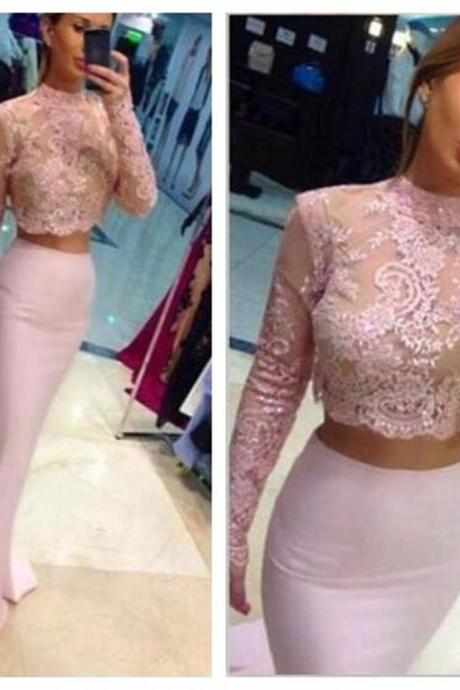 Long Sleeve Prom Dress,Lace Prom Dress,Mermaid Prom Dress,Fashion Prom Dress,Sexy Party Dress, New Style Evening Dress