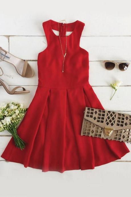 Red Prom Dress,Mini Prom Dress,Fashion Homecomig Dress,Sexy Party Dress, New Style Evening Dress