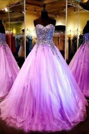 Sweetheart Ball Gown,Sequins Prom Dress,A Line Prom Dress,Fashion Prom Dress,Sexy Party Dress, New Style Evening Dress