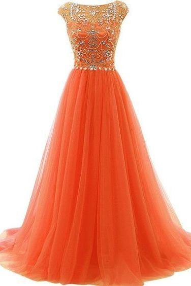 Beaded Prom Dress,A Line Prom Dress,Illusion Prom Dress,Fashion Prom Dress,Sexy Party Dress, New Style Evening Dress
