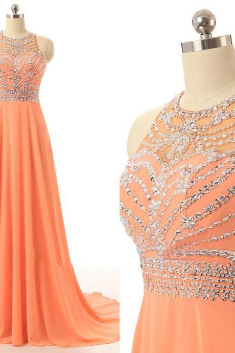 Charming Prom Dress,Beaded Prom Dress,Chiffon Prom Dress,Fashion Prom Dress,Sexy Party Dress, New Style Evening Dress