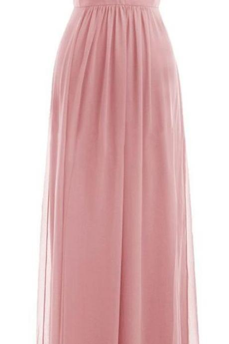 Pink Prom Dress,Deep V Neck Prom Dress,Maxi Prom Dress,Fashion Prom Dress,Sexy Party Dress, New Style Evening Dress