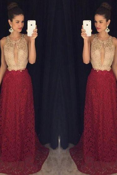 Halter Prom Dress,Lace Prom Dress,Charming Prom Dress,Fashion Prom Dress,Sexy Party Dress, New Style Evening Dress