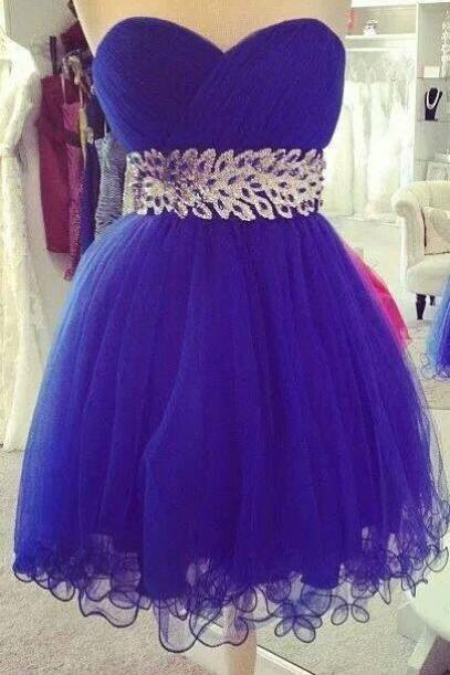 Royal Blue Prom Dress,Illusion Prom Dress,Mini Prom Dress,Fashion Homecoming Dress,Sexy Party Dress, New Style Evening Dress