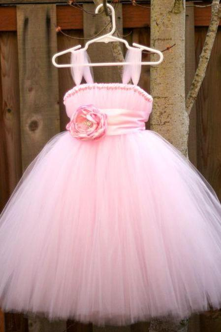 Flower Girl Prom Dress,Floral Prom Dress,Pink Prom Dress,Fashion Bridesmaid Dress,Sexy Party Dress, New Style Evening Dress