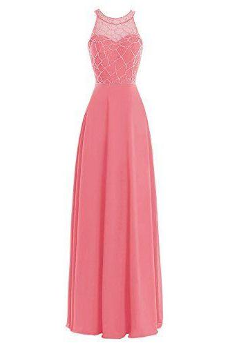 Modest Prom Dress,Shiffon Prom Dress,Maxi Prom Dress,Fashion Prom Dress,Sexy Party Dress, New Style Evening Dress