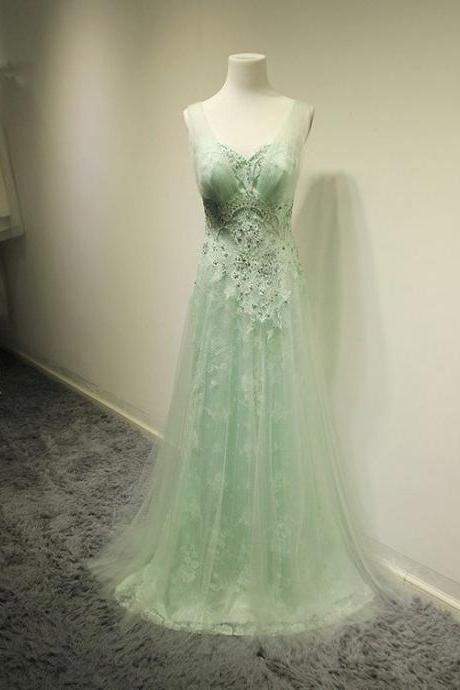 Lace Prom Dress,Beaded Prom Dress,Illusion Prom Dress,Fashion Prom Dress,Sexy Party Dress, New Style Evening Dress
