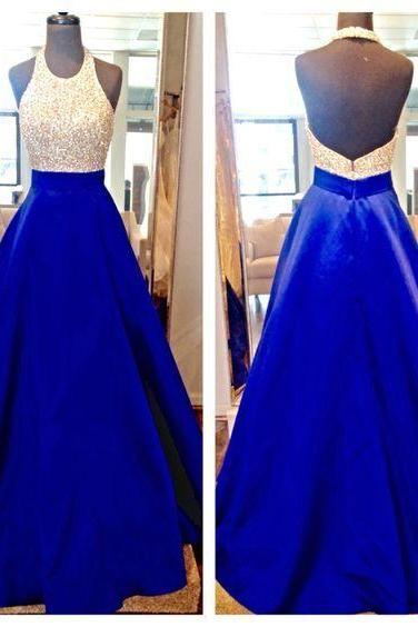 Halter Prom Dress,A Line Prom Dress,Backless Prom Dress,Fashion Prom Dress,Sexy Party Dress, New Style Evening Dress