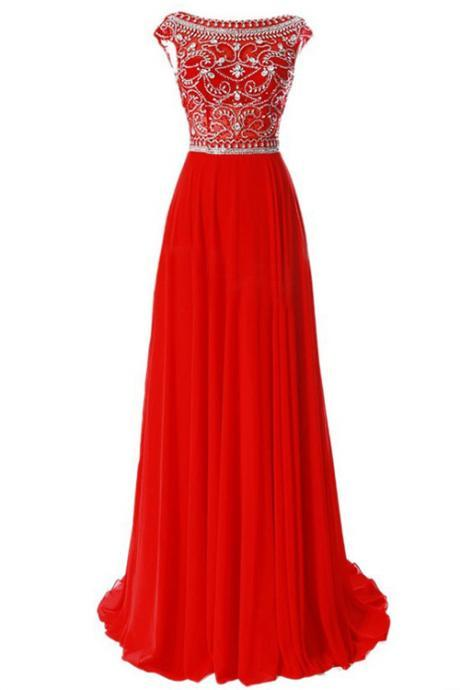 Charming Prom Dress,Beaded Prom Dress,Maxi Prom Dress,Fashion Prom Dress,Sexy Party Dress, New Style Evening Dress