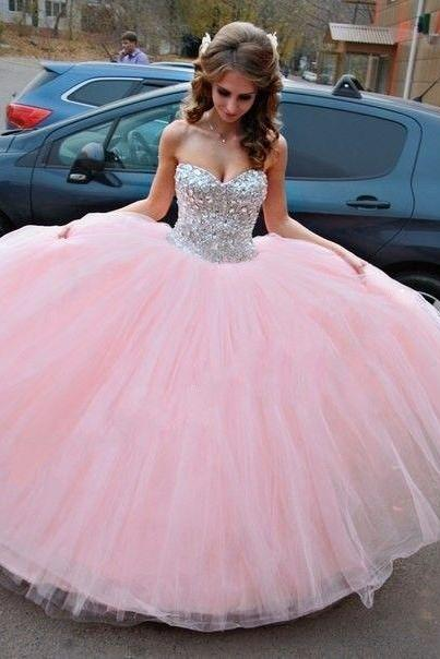 Beaded Prom Dress,Sweetheart Prom Dress,Pink Prom Dress,Fashion Prom Dress,Sexy Party Dress, New Style Evening Dress