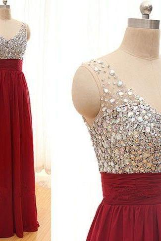 Charming Prom Dress,Maxi Prom Dress,Beaded Prom Dress,Fashion Prom Dress,Sexy Party Dress, New Style Evening Dress