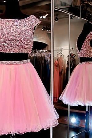 Pink Prom Dress,Beaded Prom Dress,Chiffon Prom Dress,Fashion Homecoming Dress,Sexy Party Dress, New Style Evening Dress