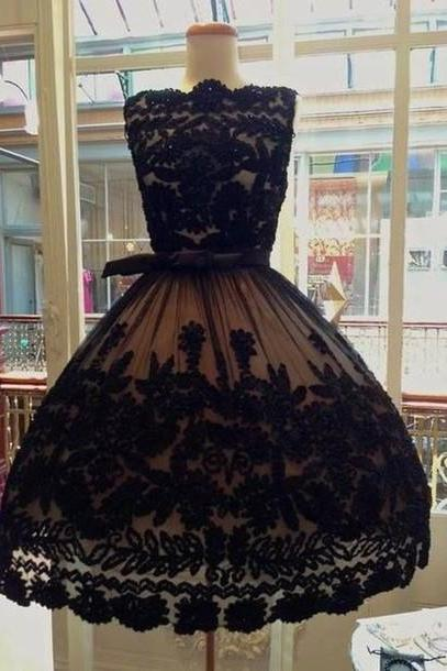 Charming Prom Dress,Lace Prom Dress,Black Prom Dress,Fashion Homecoming Dress,Sexy Party Dress, New Style Evening Dress