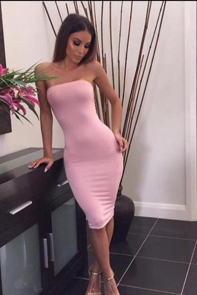 Strapless Prom Dress,Pink Prom Dress,Pencil Prom Dress,Fashion Homecomig Dress,Sexy Party Dress, New Style Evening Dress