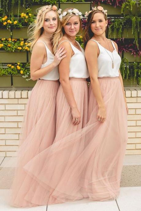 Charming Prom Dress,Two Pieces Prom Dress,Maxi Prom Dress,Fashion Bridesmaid Dress,Sexy Party Dress, New Style Evening Dress
