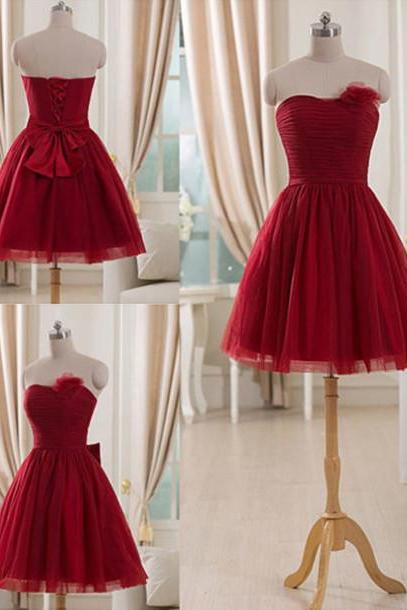 Bowknot Prom Dress,Mini Prom Dress,Illusion Prom Dress,Fashion Homecoming Dress,Sexy Party Dress, New Style Evening Dress