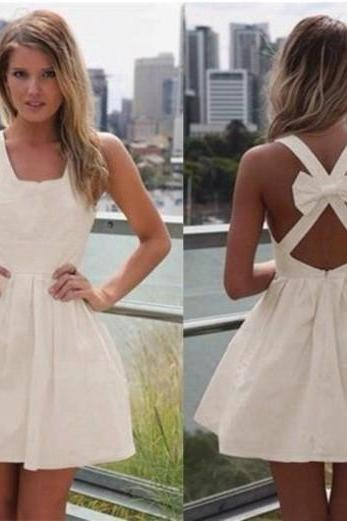 Backless Prom Dress,Mini Prom Dress,Bowknot Prom Dress,Fashion Homecoming Dress,Sexy Party Dress, New Style Evening Dress