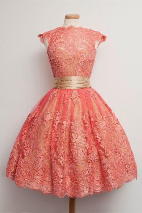 Vintage Prom Dress,Lace Prom Dress,A Line Prom Dress,Fashion Homecoming Dress,Sexy Party Dress, New Style Evening Dress