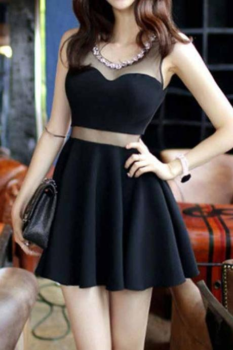 Charming Prom Dress,Black Prom Dress,Mini Prom Dress,Fashion Homecoming Dress,Sexy Party Dress, New Style Evening Dress