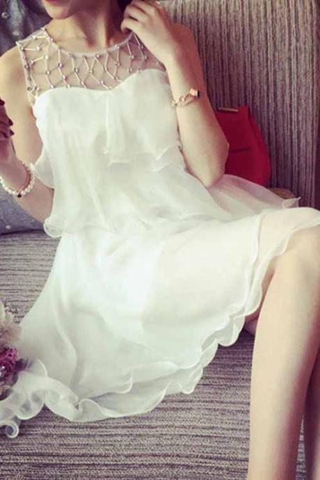 Charming Prom Dress,White Prom Dress,Mini Prom Dress,Fashion Homecoming Dress,Sexy Party Dress, New Style Evening Dress