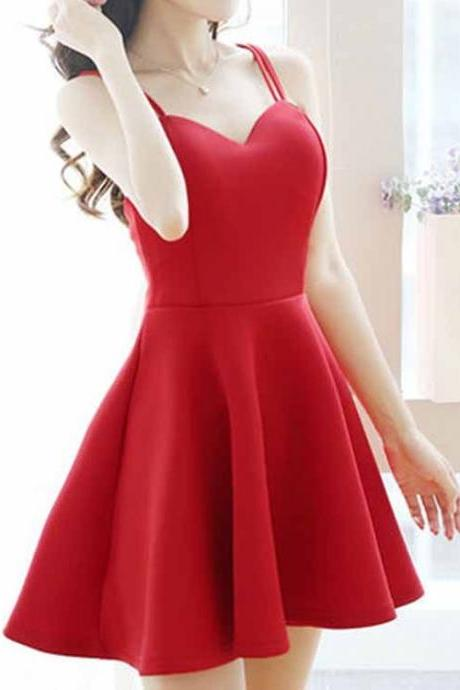 Red Prom Dress,Spaghetti Prom Dress,Mini Prom Dress,Fashion Homecoming Dress,Sexy Party Dress, New Style Evening Dress