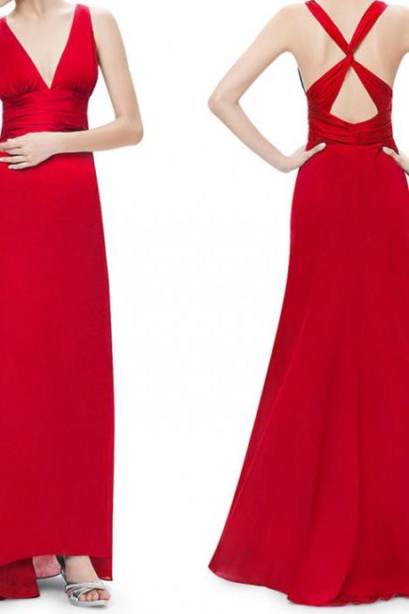 Backless Prom Dress,Red Prom Dress,Bodice Prom Dress,Fashion Prom Dress,Sexy Party Dress, New Style Evening Dress