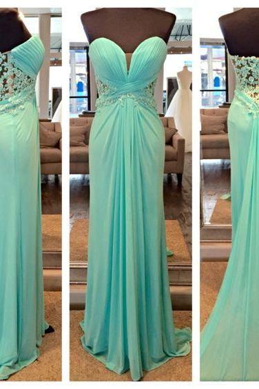 Sweetheart Prom Dress,Sheath Prom Dress,Chiffon Prom Dress,Fashion Prom Dress,Sexy Party Dress, New Style Evening Dress