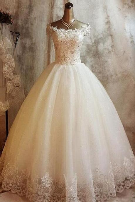 Short Sleeve Prom Dress,Beaded Prom Dress,Bodice Prom Dress,Fashion Bridal Dress,Sexy Party Dress, New Style Evening Dress