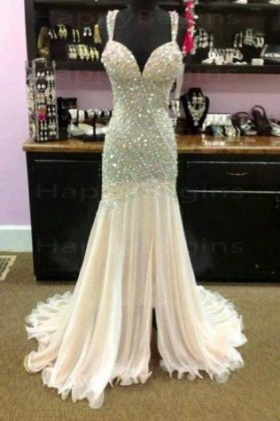 Luxury Prom Dress,Beaded Prom Dress,Mermaid Prom Dress,Fashion Prom Dress,Sexy Party Dress, New Style Evening Dress