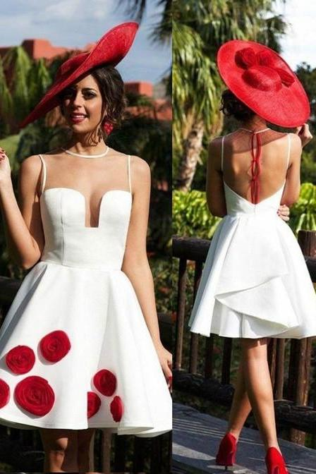 Backless Prom Dress,Spaghatti Prom Dress,White Prom Dress,Fashion Homecoming Dress,Sexy Party Dress, New Style Evening Dress