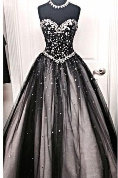 Beaded Prom Dress,Sweetheart Prom Dress,Bodice Prom Dress,Fashion Prom Dress,Sexy Party Dress, New Style Evening Dress