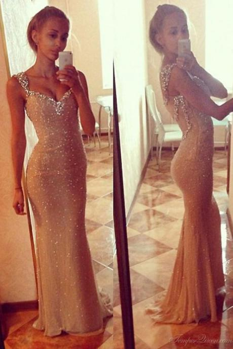 Charming Prom Dress,Mermaid Prom Dress,Beaded Prom Dress,Fashion Prom Dress,Sexy Party Dress, New Style Evening Dress